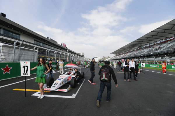Jose Manuel Vilalta (MEX) on the grid at Formula 4 Series, Circuit Hermanos Rodriguez, Mexico City, Mexico, 30 October 2016.