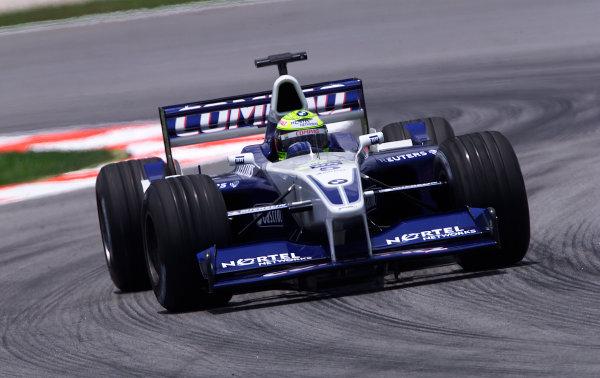 2001 Malaysian Grand Prix.Sepang, Kuala Lumpur, Malaysia. 16-18 March 2001.Ralf Schumacher (Williams FW23 BMW) 5th position.World Copyright - Steve Etherington/LAT Photographic.ref: 14mb Digital Image