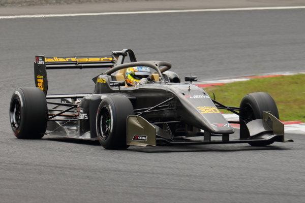 The 2020 Super Formula Lights car is demonstrated