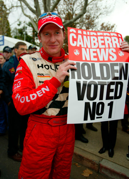 2002 Australian V8 Supercar ChampionshipCanberra, Australia. 9th June 2002.Holden driver Mark Skaife wins Round 5 of the V8 Supercars at the Stegbar 400 in Canberra.World Copyright: Mark Horsburgh/LAT Photographicref: Digital Image Only