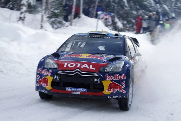 Round 01-Rally Sweden. 10th-13th February 2011.Sebastien Ogier, Citroen WRC, Action.Worldwide Copyright: McKlein/LAT