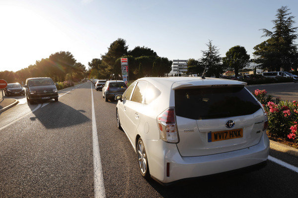 Traffic jams outside the circuit
