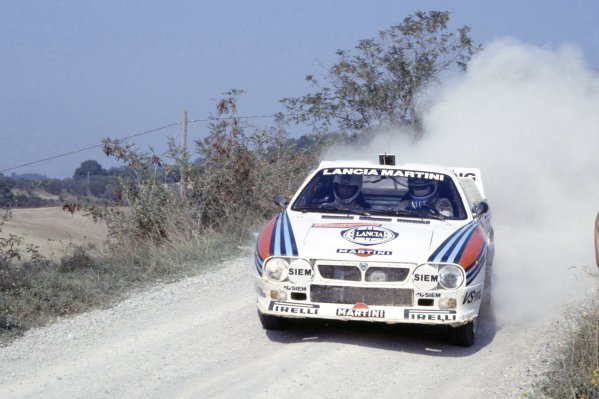 1983 World Rally Championship. San Remo Rally, Italy. 2-8 October 1983. Markku Alen/Ilkka Kivimaki (Lancia Rally 037), 1st position. World Copyright: LAT Photographic Ref: 35mm transparency 83RALLY08