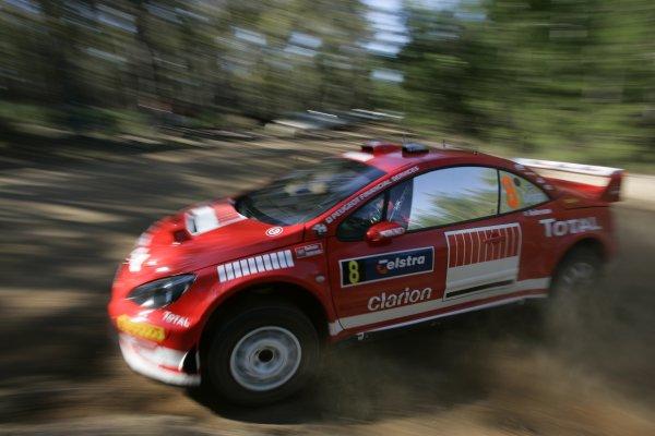 2005 FIA World Rally Champs. Round Sixteen, Rally Australia.10th - 13th November 2005.Daniel Carlsson, Peugeot, action.World Copyright: McKlein/LAT