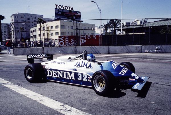 1982 United States Grand Prix West.Long Beach, California, USA.2-4 April 1982.Riccardo Paletti (Osella FA1C Ford).Ref-82 LB 46.World Copyright - LAT Photographic