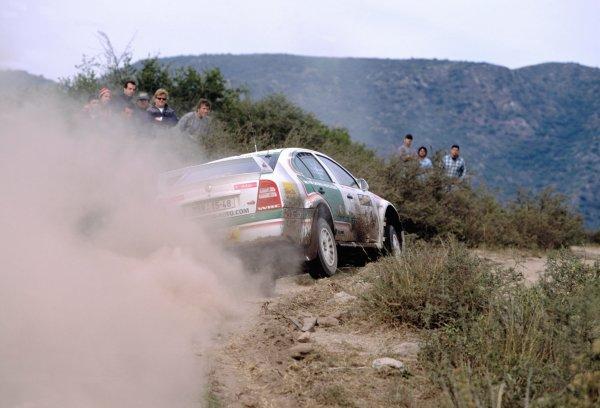 2003 World Rally ChampionshipRally Argentina, Cordoba, Argentina, 7th - 11th May 2003.Didier Auriol/Denis Giraudet (Skoda Octavia WRC EVO3), action.World Copyright: LAT Photographicref: 03WRCArg22