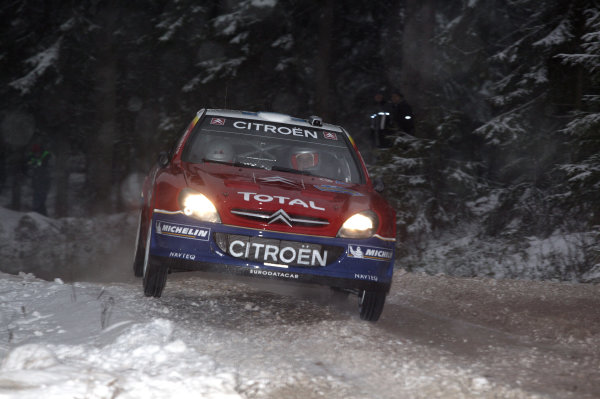 2005 FIA World Rally Champs. Round two Swedish Rally.10th-13th February 2005.Francois Duval. Citroen, action.World Copyright: McKlein/LAT