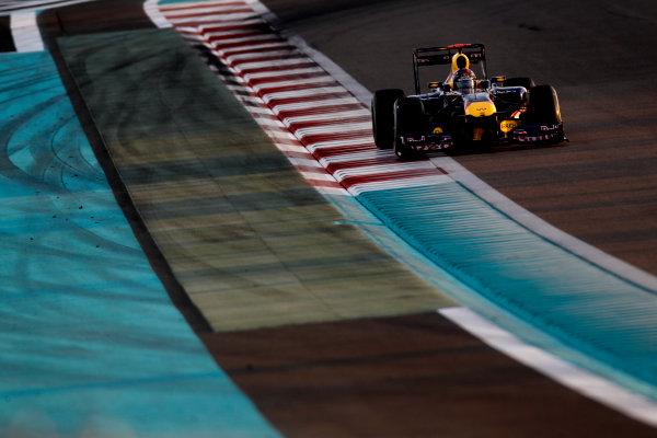Yas Marina Circuit, Abu Dhabi, United Arab Emirates12th November 2011.Sebastian Vettel, Red Bull Racing RB7 Renault. Action. World Copyright:Glenn Dunbar/LAT Photographic ref: Digital Image _G7C4365