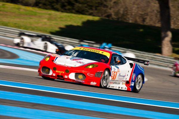 Paul Ricard, France. 9th - 11th April 2010. Andrew Kirkaldy / Tim Mullen, (CRS Racing, Ferrari 430 GT).  Action World Copyright: Drew Gibson/LAT Photographic. Digital Image _Y2Z8186
