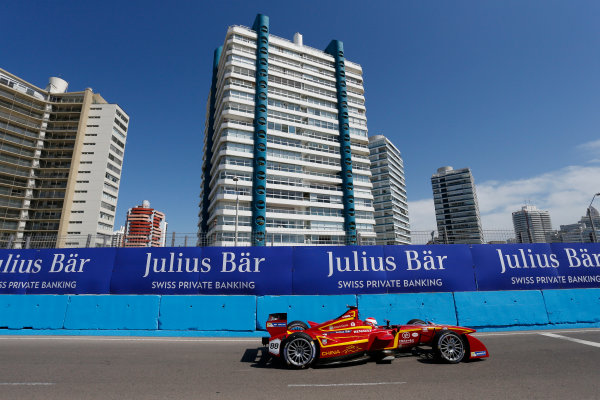 2014 FIA Formula E Championship. Punta del Este ePrix, Uruguay. Antonio Garcia (ESP)/China Racing - Spark-Renault SRT_01E. Photo: Zak Mauger/LAT/FE ref: Digital Image _L0U1013