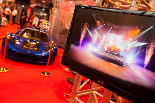 Autosport International Exhibition. National Exhibition Centre, Birmingham, UK. Friday 9 January 2015. The Keating Supercars stand. World Copyright: Edd Hartley/Jakob Ebrey/LAT Photographic. ref: Digital Image _MG_1944