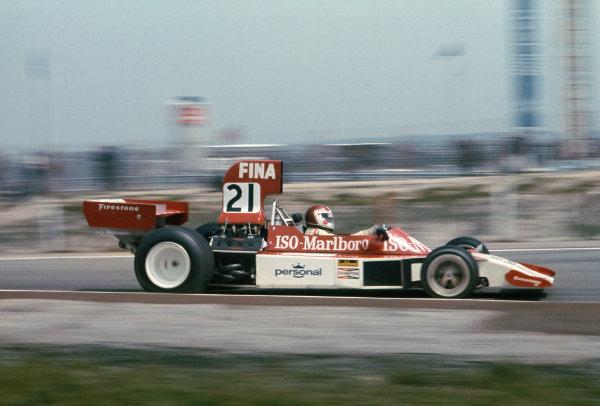 1974 Spanish Grand Prix.  Jarama, Madrid, Spain. 26-28th April 1974.  Tom Belso, Williams FW02 Ford, did not qualify.  Ref: 74ESP16. World Copyright: LAT Photographic