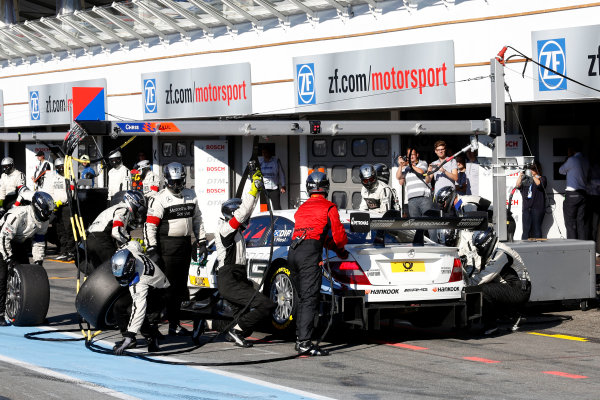 2014 DTM Championship Round 10 - Hockenheim, Germany 17th - 19th October 2014 Pitstop, Paul Di Resta (GBR) Mercedes AMG DTM-Team HWA DTM Mercedes AMG C-Coup? World Copyright: XPB Images / LAT Photographic  ref: Digital Image 3354445_HiRes