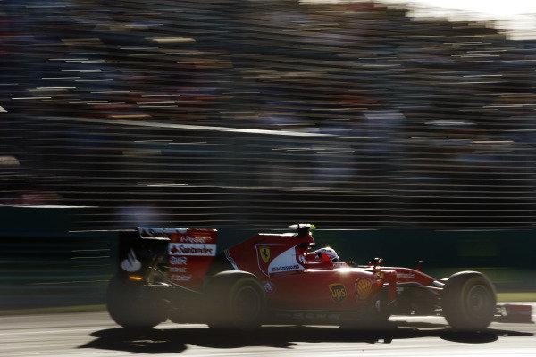 Albert Park, Melbourne, Australia. Friday 13 March 2015. Kimi Raikkonen, Ferrari SF-15T. World Copyright: Steven Tee/LAT Photographic. ref: Digital Image _L4R1090