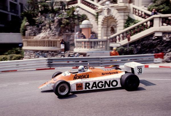 1982 Monaco Grand Prix.Monte Carlo, Monaco.20-23 May 1982.Mauro Baldi (Arrows A4 Ford).Ref-82 MON 91.World Copyright - LAT Photographic