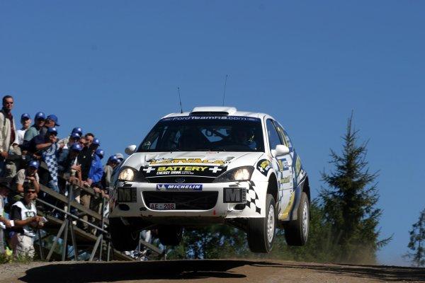 2003 FIA World Rally Champs. Round nine, Neste Rally Finland. Rally7th-10th August 2003.Jari-Matti Latvala, Ford, action. World Copyright: McKlein/LAT