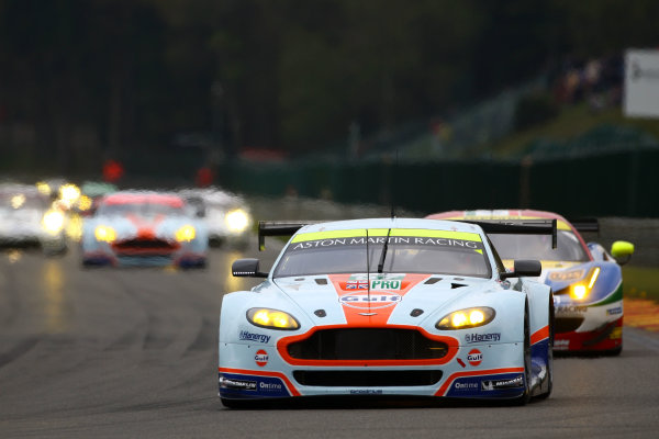 2015 FIA World Endurance Championship, Spa-Francorchamps, Belgium. 30th April - 2nd May 2015. Darren Turner / Stefan Mucke / Rob Bell Aston Martin Racing Aston Martin Vantage V8. World Copyright: Ebrey / LAT Photographic.