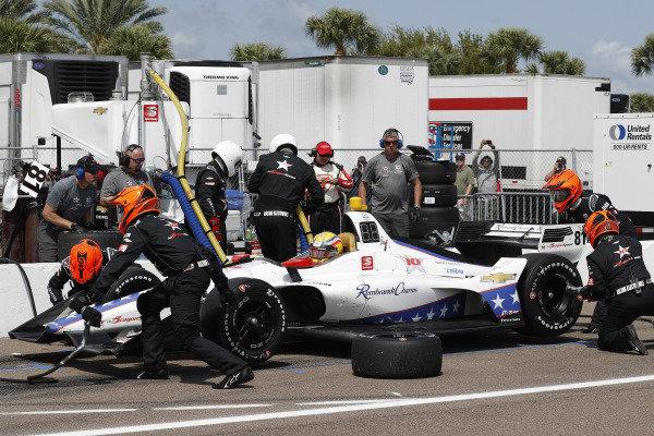 Ben Hanley, DragonSpeed Chevrolet, pit stop