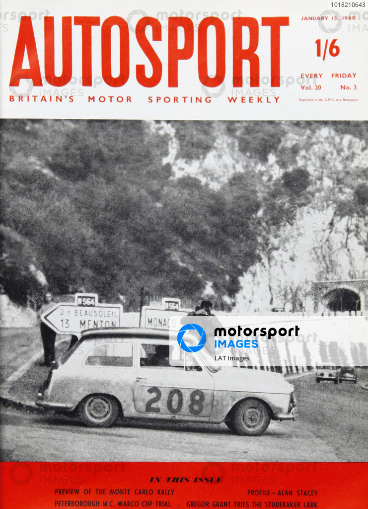 Cover of Autosport magazine, 15th January 1960