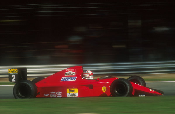 1990 Italian Grand Prix.Monza, Italy.7-9 September 1990.Nigel Mansell (Ferrari 641) 4th position.Ref-90 ITA 03.World Copyright - LAT Photographic
