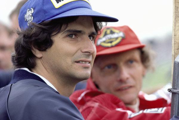 Nelson Piquet and Niki Lauda.