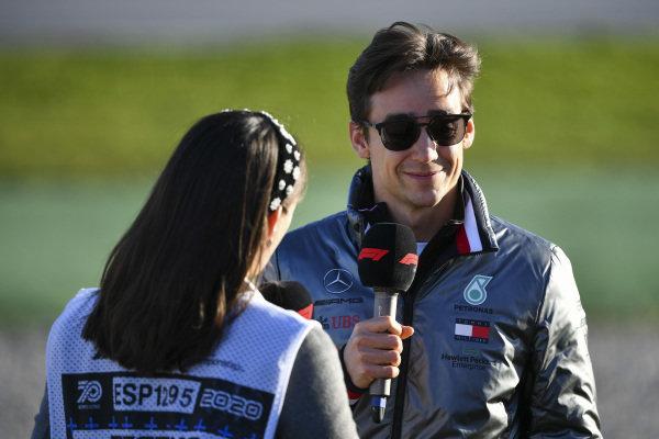 Esteban Gutierrez, Mercedes AMG, talks to the media