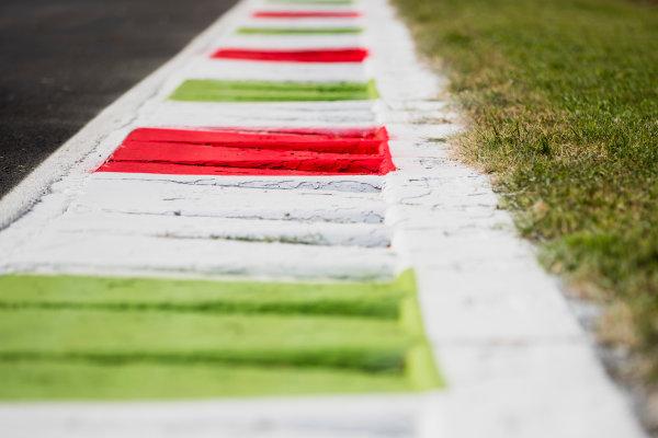 2017 FIA Formula 2 Round 9. Autodromo Nazionale di Monza, Monza, Italy. Thursday 31 August 2017. Kerbs. Photo: Zak Mauger/FIA Formula 2. ref: Digital Image _54I4836