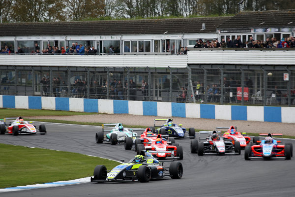 2017 British Formula 4 Championship, Donington Park, April 15th-16th 2017, Linus Lundqvist (SWE) Double R Racing British F4 World Copyright. JEP/LAT Images