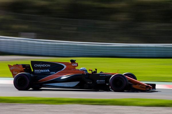 Circuit de Barcelona Catalunya, Barcelona, Spain. Friday 10 March 2017. Fernando Alonso, McLaren MCL32 Honda.  World Copyright: Sam Bloxham/LAT Images ref: Digital Image _SLA0349