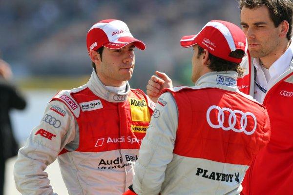 Miguel Molina (ESP), Audi Sport Rookie Team Abt, left.DTM, Rd1, Hockenheim, Germany, 23-25 April 2010 World Copyright: LAT Photographicref: Digital Image dne1024ap61