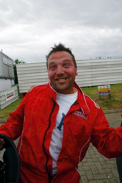 Race winner James Moy (GBR) Sutton Motorsport Images shows his unrestrained delight in Parc Ferme at the end of the race.  