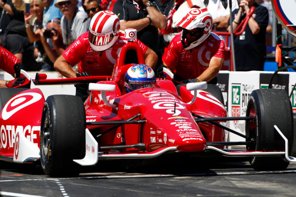 23 May, 2014, Indianapolis, Indiana, USA Scott Dixon wins the Pit Stop Competition ©2014, Phillip Abbott LAT Photo USA