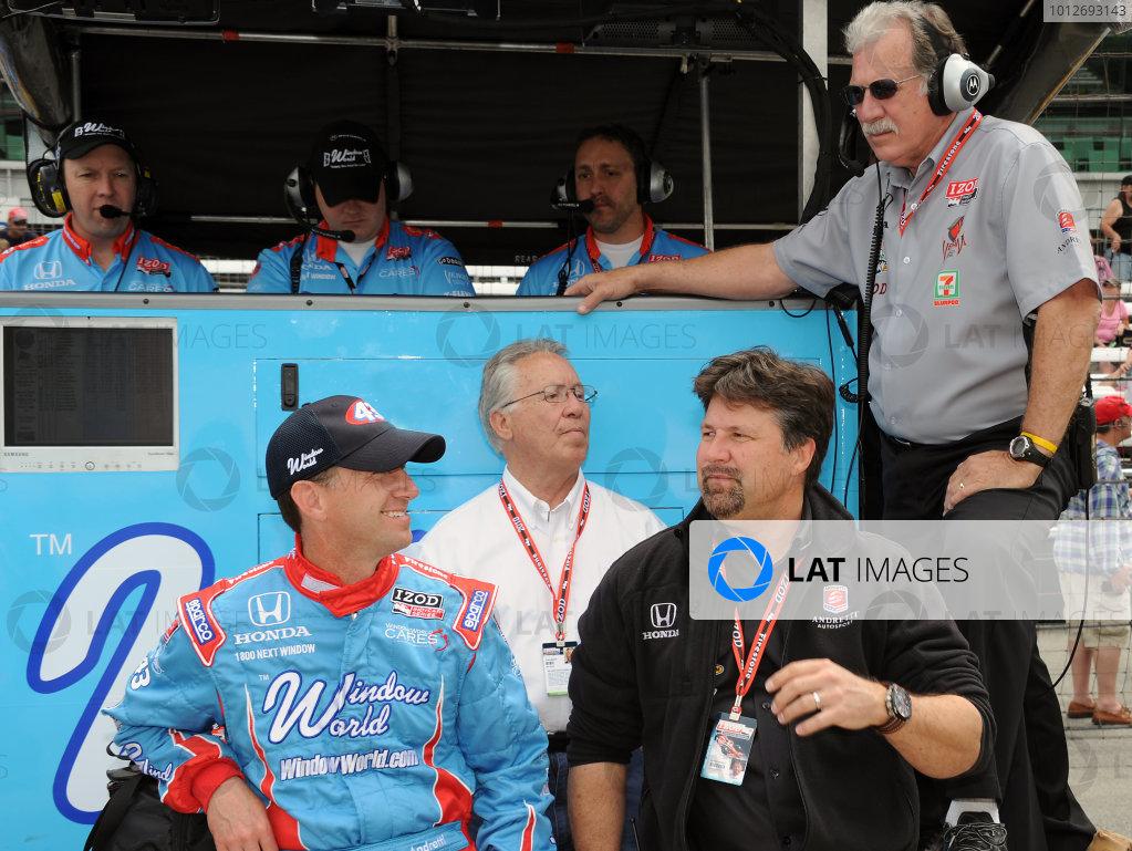 15-21 MAY, 2010, Indianapolis, Indiana, USA#43 Team Window World Autosport's John Andretti with Michael Andretti, Aldo Andretti and John Anderson.©Dan R. Boyd, USA LAT Photographic