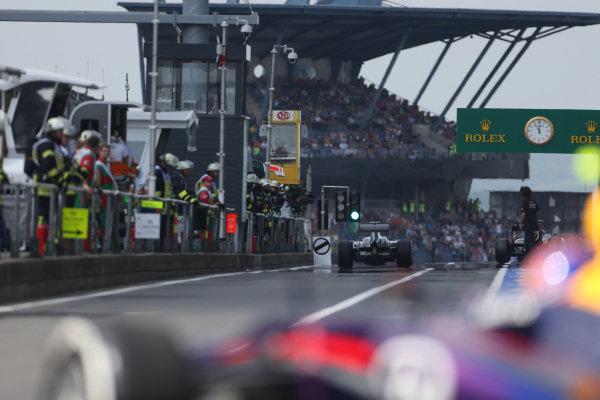 Esteban Gutierrez (MEX) Sauber C32. Formula One World Championship, Rd9, German Grand Prix, Qualifying, Nurburgring, Germany, Saturday 6 July 2013.