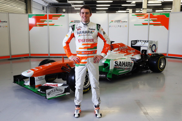 Paul di Resta (GBR) Force India F1 with the new Force India VJM06. Force India VJM06 Launch, Silverstone, England, 1 February 2013.