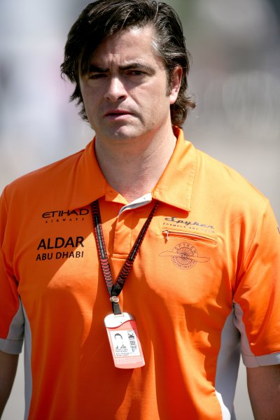 2007 Turkish Grand Prix - ThursdayIstanbul Motor Park, Istanbul, Turkey.23rd August 2007.Spyker F1 Team Manager Andy Stevenson. Portrait.World Copyright: Charles Coates/LAT Photographicref: Digital Image ZK5Y5470