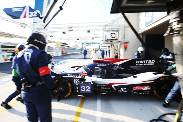 2017 Le Mans 24 Hours Circuit de la Sarthe, Le Mans, France. Wednesday 14 June 2017 #32 United Autosports Ligier JSP217-Gibson: William Owen, Hugo de Sadeleer, Filipe Albuquerque  World Copyright: JEP/LAT Images