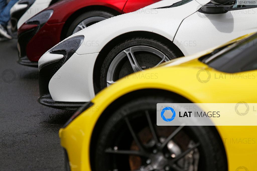 2015 Le Mans 24 Hours. Circuit de la Sarthe, Le Mans, France. Friday 12 June 2015. McLaren in the Parade paddock Photo: Sam Bloxham/LAT Photographic. ref: Digital Image _SBL8617