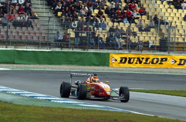 Norbert Siedler (AUT), Swiss Racing Team, won the Sunday race confortably.German Formula 3 Championship, Rd10, Hockenheim, Germany. 05-06 October 2002.DIGITAL IMAGE