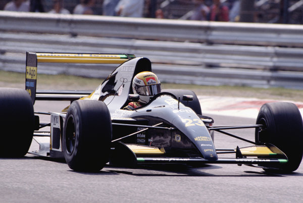 1991 Italian Grand Prix.Monza, Italy.6-8 September 1991.Pierluigi Martini (Minardi M191 Ferrari).Ref-91 ITA 30.World Copyright - LAT Photographic