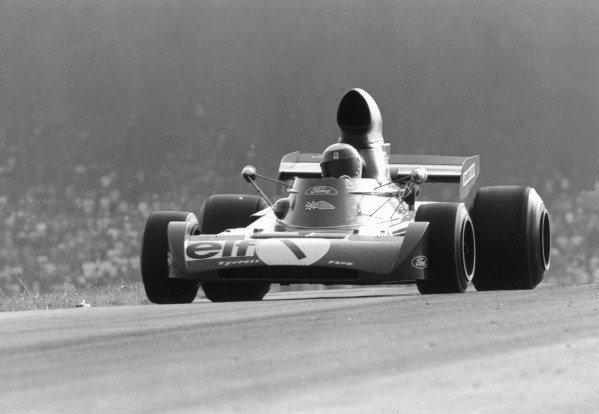 1972 Austrian Grand Prix.Osterreichring, Zeltweg, Austria. 13 August 1972.Jackie Stewart (Tyrrell 005-Ford Cosworth), 7th position. Ref-4711 #34A.World Copyright - LAT Photographic