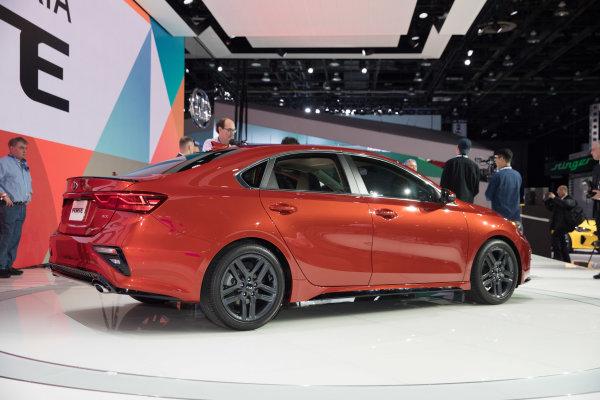 2019 Kia Forte debuts at the 2018 North American International Auto Show in Detroit.