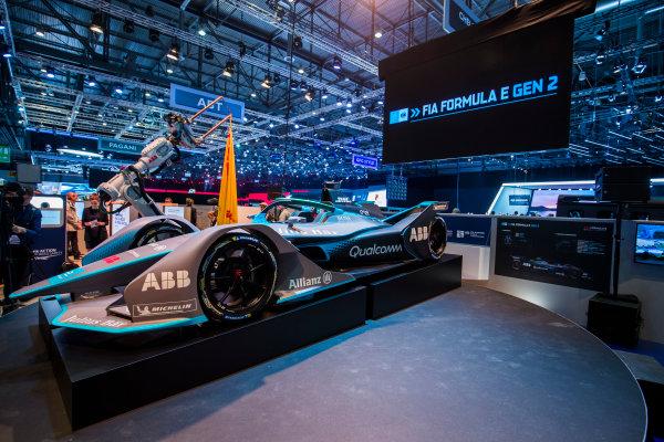 2017/2018 FIA Formula E Championship. Geneva Motor Show Tuesday 6 March 2018. The FIA Formula-E Gen2 car is unveiled. Photo: Sam Bloxham/LAT/Formula E ref: Digital Image _W6I3897