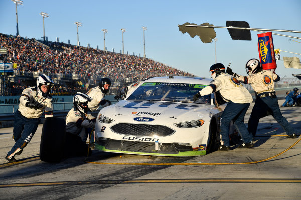 Monster Energy NASCAR Cup Series Ford EcoBoost 400 Homestead-Miami Speedway, Homestead, FL USA Sunday 19 November 2017 Brad Keselowski, Team Penske, Miller Lite Ford Fusion World Copyright: Rusty Jarrett LAT Images