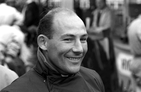 Stirling Moss (GBR) Lotus was disqualified from the race.British Grand Prix, Aintree, 15 July 1961.