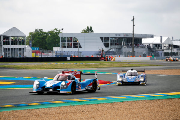2016 Le Mans 24 Hours. Circuit de la Sarthe, Le Mans, France. KCMG / Oreca 05-Nissan - Tsugio Matsuda (JPN), Matthew Howson (GBR), Richard Bradley (GBR).  Saturday 18 June 2016 Photo: Adam Warner / LAT ref: Digital Image _L5R4462