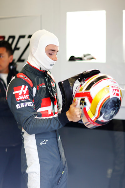 Silverstone, Northamptonshire, UK Friday 08 July 2016. Charles Leclerc, Test and Reserve Driver, Haas F1. World Copyright: Andy Hone/LAT Photographic ref: Digital Image _ONY7011