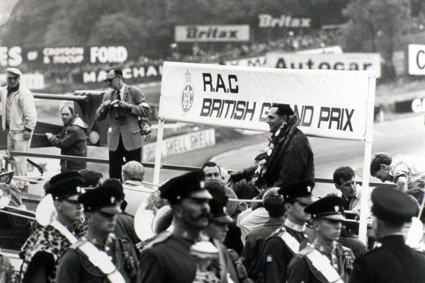 1966 British Grand Prix.Brands Hatch, Kent, Great Britain. 16 July 1966.Jack Brabham, Brabham BT19-Repco, 1st position.World Copyright - LAT Photographic