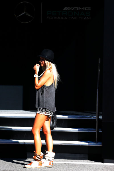 Autodromo Nazionale di Monza, Monza, Italy. Sunday 6 September 2015. A guest in the paddock. World Copyright: Jed Leicester/LAT Photographic ref: Digital Image _L1_9634