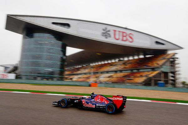 Shanghai International Circuit, Shanghai, China. Saturday 19 April 2014. Daniil Kvyat, Toro Rosso STR9 Renault. World Copyright: Charles Coates/LAT Photographic. ref: Digital Image _N7T2509
